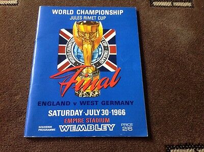 Original 1966 World Cup Final England V West Germany Vgc (2)