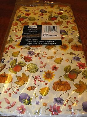 Thanksgiving Amscan Paper Tablecloth New in Package.  Very nice