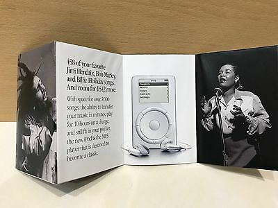 iPod Classic 1st Generation Billie Holiday Jimi Hendrix Ltd Editions Promo Flyer