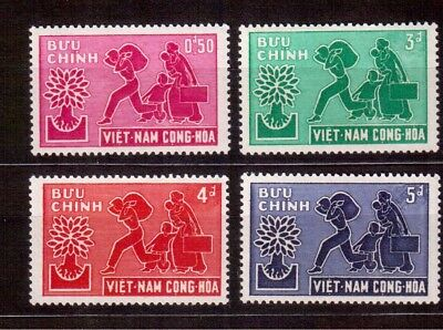Vietnam 1960 Set Mint Lh # 132/35, World Refugee Year !!