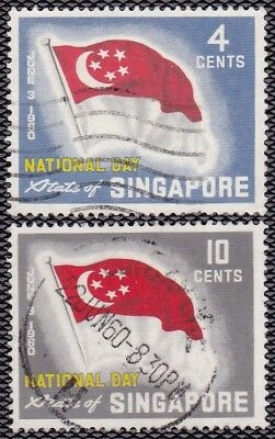 Singapore #49-50 Used National Day (State Flag)