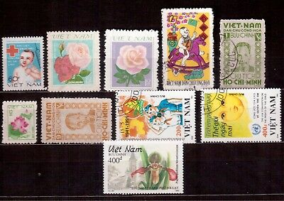 Vietnam Democratic Republic Lot Of 10 Stamps Mint & Used !!