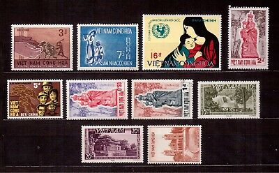 Vietnam Lot Of 10 Stamps Mint & Used !!
