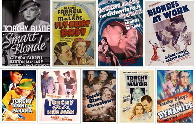 Torchy Blane Collection ~ 9 RARE Classic Movies 1937 - 1939