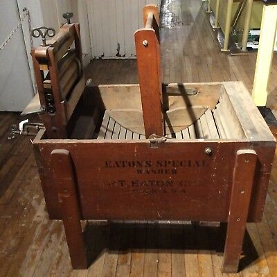 AM181 Vtg T. Eaton Co. Eaton's Special Wood Wooden Washer Washing Machine