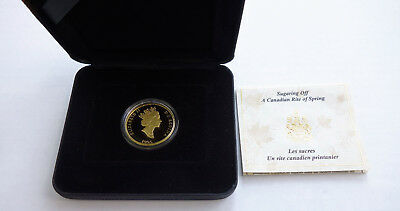1995 $200 Dollar Proof 1/2 ounce Gold Coin Sugaring Off Rite of Spring COA