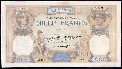 1000 Francs from France 1932