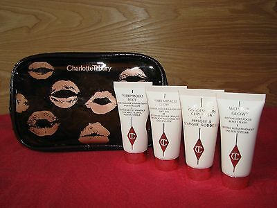 Charlotte Tilbury Face & Body Treats with Makeup Bag - NEW