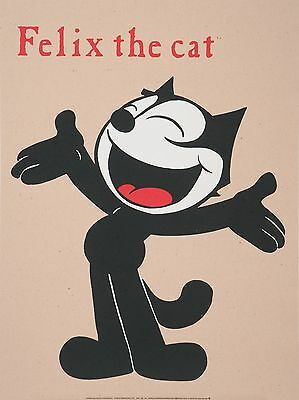 Felix the cat / Lithografie/ Printed in France / Recycled Paper/ Oriolo Felix