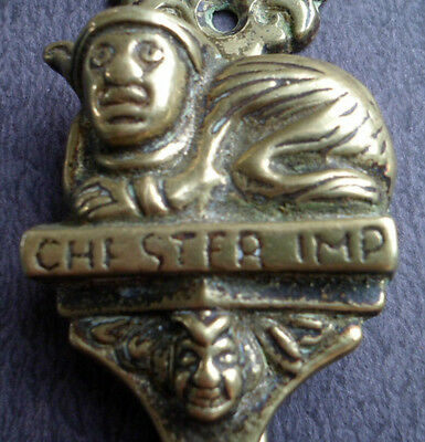 Vintage CHESTER IMP Brass Door Knocker–- Grotesque, Unusual Novelty