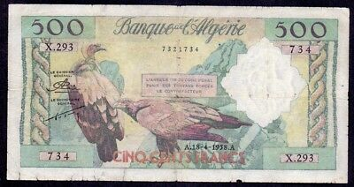 500 Francs From Algérie French Colony 1958