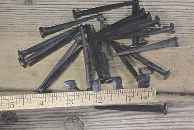 """2 1/2"""" Rose head nails 25 in lot square wrought iron Antique vintage look 2.5"""