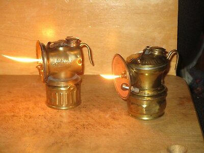 Miners  AUTO-LITE & JUSTRITE  1912  CARBIDE LAMPS-WORKING!!