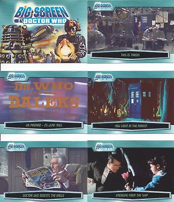 100 Basic / Base Card Complete Set Doctor Who Big Screen Strictly Ink Daleks