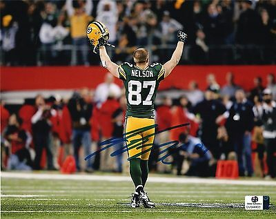 Jordy Nelson Green Bay Packers Autographed signed 8x10 photo pic w/coa,.
