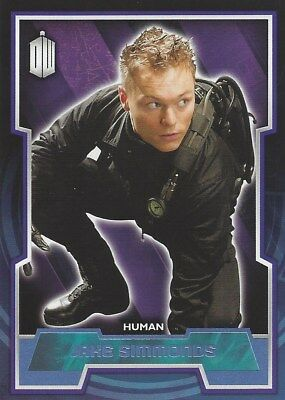 Parallel Base Card Blue 133 #144/199 Jake Simmonds Human Doctor Who 2015 Topps