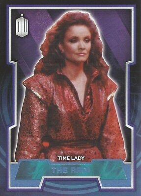 Parallel Base Card Blue 17 #189/199 Time Lady The Rani Doctor Who 2015 Topps