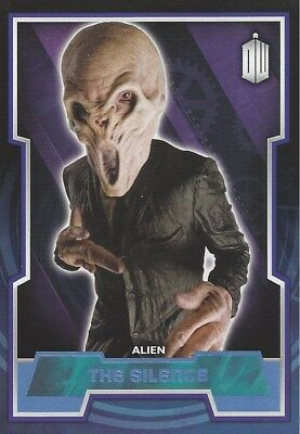 Parallel Base Card Blue 99 #146/199 The Silence Alien Doctor Who 2015 Topps
