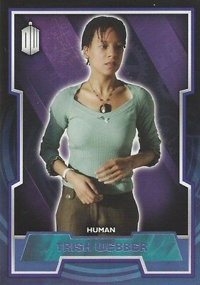 Parallel Base Card Purple 158 #21/99 Trish Webber Human Doctor Who 2015 Topps