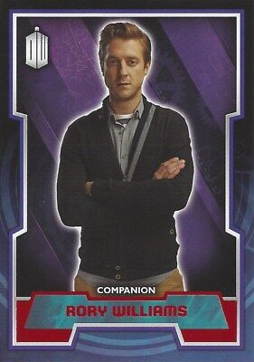 Parallel Base Card Red 43 #44/50 Rory Williams Companion Doctor Who 2015 Topps