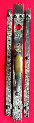 "LARGE BRONZE ARTS & CRAFTS ENTRY DOOR THUMB LATCH DOOR PULL 23 ½"" x 4 3/4"