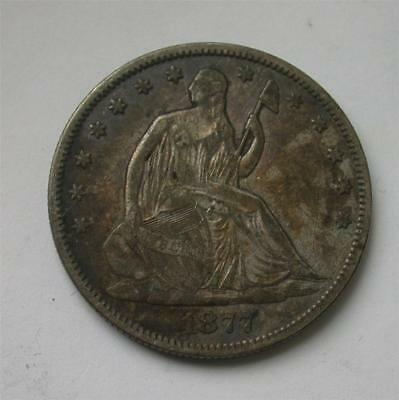 1877 S Seated Liberty Half Dollar Silver Coin