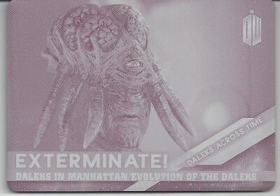 PRINTING PLATE Magenta Daleks Across Time 6 of 10 Doctor Who Timeless 2016 Topps