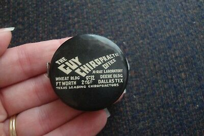 Vintage Advertising Celluloid Tape Measure Guy Chiropractic Fort Worth Dallas Tx