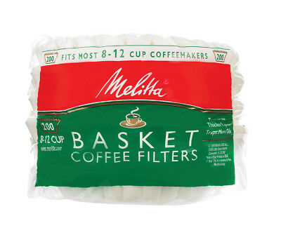 Melitta  8 - 12 cups cups Basket  Coffee Filter  200 count