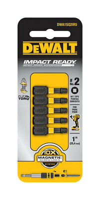 DeWalt  Impact Ready  #2 in. Square  Screwdriver Bit  1/4 in. Dia. 5 pc.