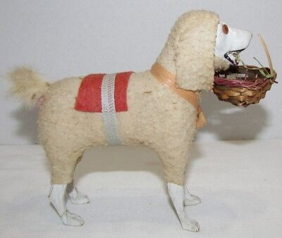Vintage Large Putz Dog , Christmas Nativity, Sheep