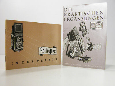 Rare Rolleiflex Rolleicord INSTRUCTION MANUAL & ACCESSORIES BROCHURE In German