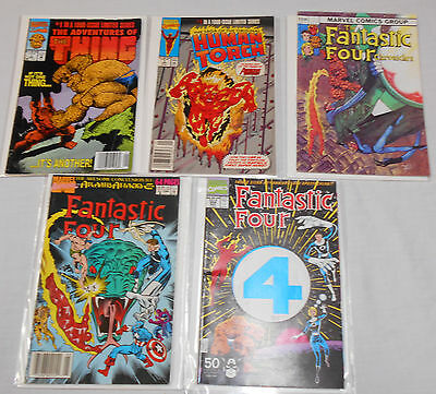 Lot of 5 comic books Fantastic Four The Thing Human Torch Marvel