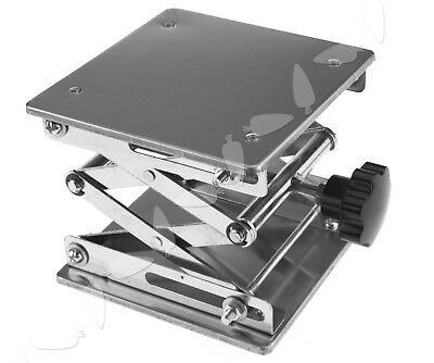150 x 150mm Stainless Steel Lab Stand Table Scissor Lift laboratory Jiffy Jack