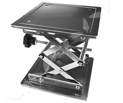 200 x 200mm Stainless Steel Lab Stand Table Scissor Lift laboratory Jiffy Jack