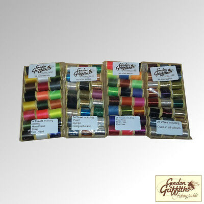 Gordon Griffiths Tinsels Wires Threads & Floss Mixed Pack x 48 Spools (SPOOL)