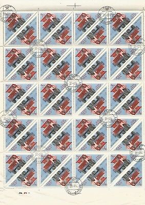 Russia Full Sheet 40 x 3 K  CTO Stamps., 1971. Nice Lot. See Scan.