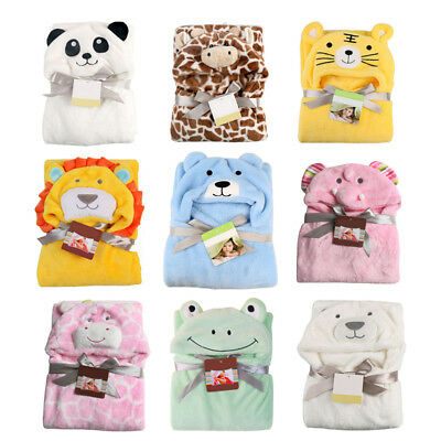 Baby Infant Toddler Bath Towel Soft Warm Wrap Hooded Robe Cloak Blanket Eyeful