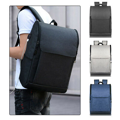 Anti-theft Laptop Backpack Men Busniess Travel School Bags Rucksack w/ USB Port