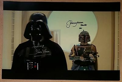 "JEREMY BULLOCH DAVE PROWSE HAND SIGNED HUGE ""18x12"" STAR WARS PHOTO - SEE PROOF"