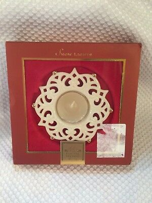 Lenox Snow Lights SPARKLE Votive Tealight Snowflake Candle Holder New in Box