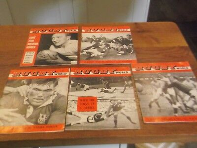 5 X 1962 Rugby World Magazines All With 1962 British And Irish Lions Featured