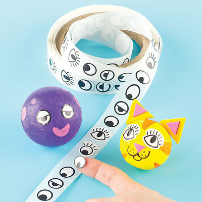 Eye Stickers Value Roll, for Kid's Crafts & Card Making Activities (1000 Pcs)