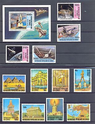 AFRICA REP CONGO 45  STAMPS + 5 x BLOCK   **  MNH  VF