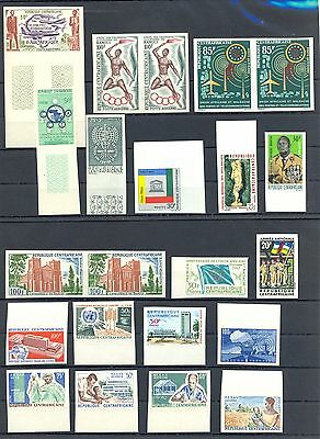 Centrafricaine 1962/1970  23  Stamps Imperf **  Mnh