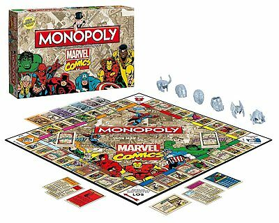 Winning Moves WIN44338 - Monopoly: Marvel Comic Retro Spiel  -     deutsch