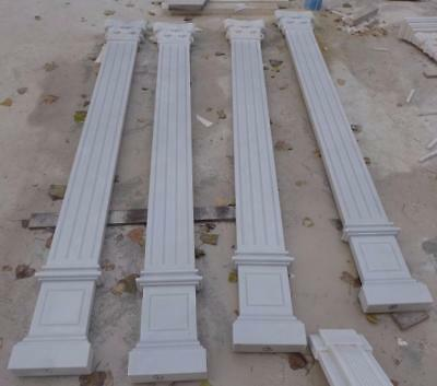 Beautiful Hand Carved Marble Estate Wall Columns - Mc84