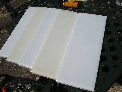5 x white laminated wood panels,49 x 18 cm,total weight 8kg