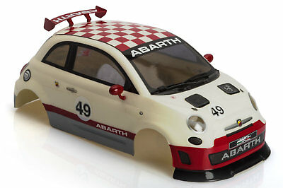 The Rally Legends Fiat 500 Abarth Karosserie weiss-rot 1/10 190mm TRL111