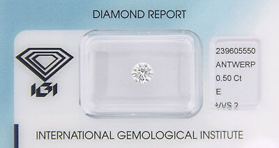 Diamant 0,50ct E VVS 2